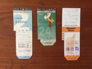 コペンハーゲン回数券,紙もの収集